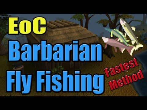 RuneScape – EoC Power Skilling – Barbarian Fly Fishing (dropping with the action bar)
