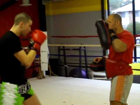 Chase Walden Thai Pad Training with Kru Buck Grant Image 1