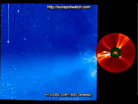 Zoom View of Prominence Eruption and X-Ray Flare - M2.5 Magnitude - June 7 2011