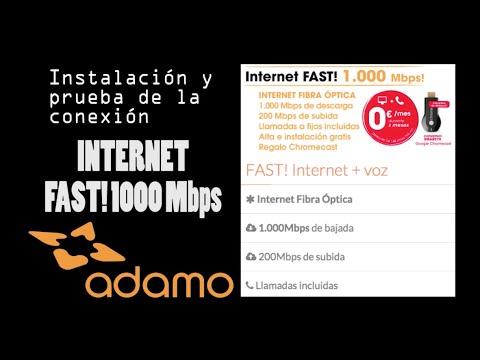 Instalación y review: ADAMO FAST INTERNET 1000 Mbps