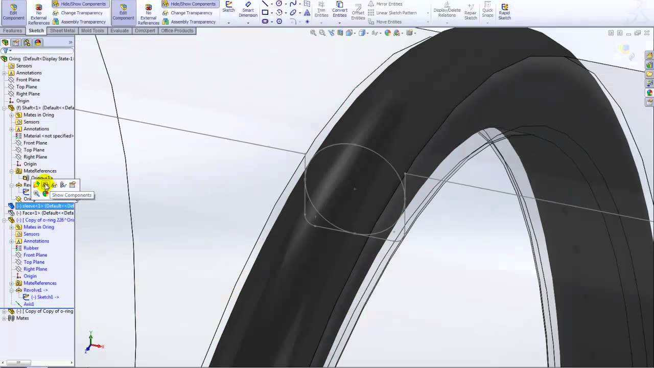 How To Make O Rings In Solidworks