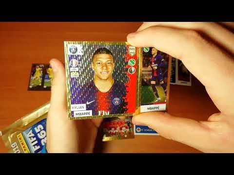 "BOX OPENING 2/10 ""FIFA 365 (2019) Panini"" { } Открытие 5-и пачек FIFA 365 2019 Panini"