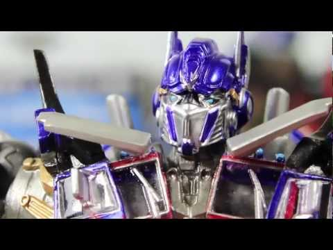 Transformers 3 DOTM Movie Sci-Fi Revoltech Optimus Prime Figure Review