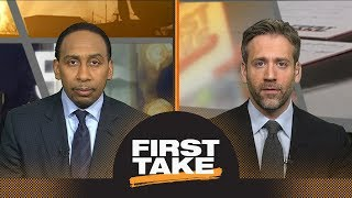 Stephen A. and Max react to Rockets defeating Warriors in Game 2 | First Take | ESPN