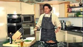 Steak with Pecorino and Rocket Recipe.flv
