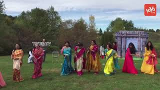 Bathukamma Celebrations In Boston | USA | Bathukamma Songs 2018