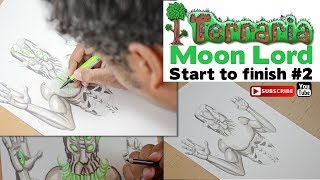 "Terraria ""Moon Lord"" Step by Step Illustration by Miguel Guerra (part 2)"