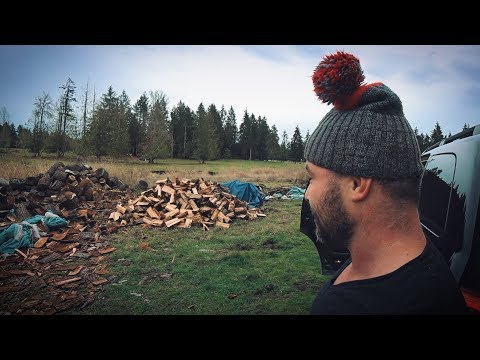 Как заработать на дровах в США? Русские помогают американцу-инвалиду.