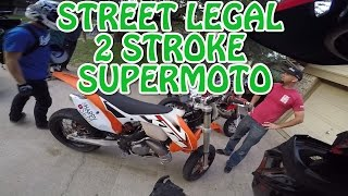 First ride: street legal 2 Stroke Supermoto!