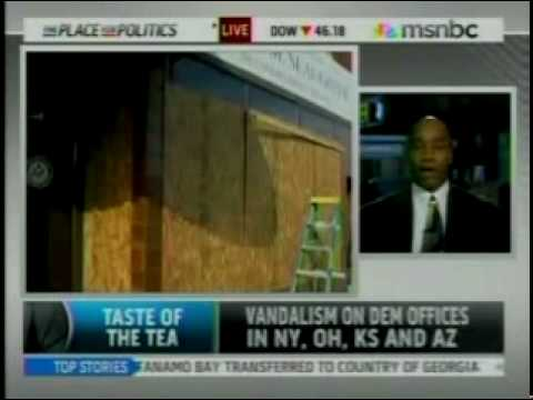 The Big Black Lie - Kevin Jackson  Debates MSNBCs Shuster on Tea Party Violence
