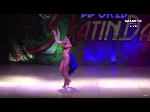 NATALIA VILLANUEVA SALSA SOLOIST LADY PRO FINAL WORLD LATIN DANCE CUP 2015