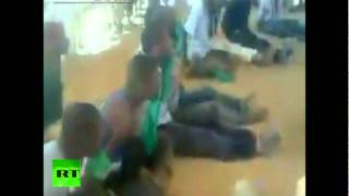 Shocking video: Libyan rebels cage black Africans, force-feed them flags