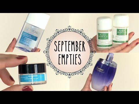 September Empties & Favorites