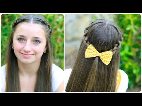 How to Create a Knotted Braid Tieback | Cute Hairstyles