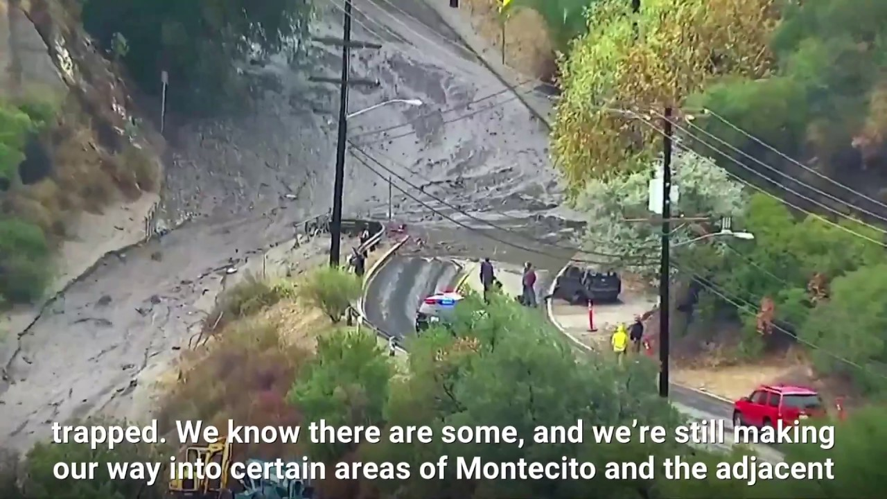 California mudslide has killed at least 15 people