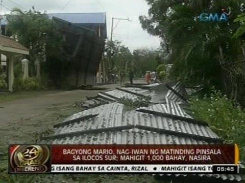 24 Oras: Bagyong Mario, nag-iwan ng matinding pinsala sa Ilocos Sur