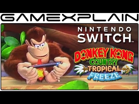 DK Makes the Switch in NEW Idle Animation for DKC: Tropical Freeze on Nintendo Switch!
