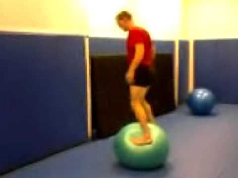 Ricky Lundell Backflips off of a Swiss Ball Image 1