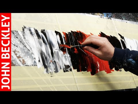 Abstract Painting Demonstration EASY With Masking Tape   Circellus