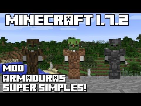Minecraft 1.7.2 MOD ARMADURAS SUPER SIMPLES