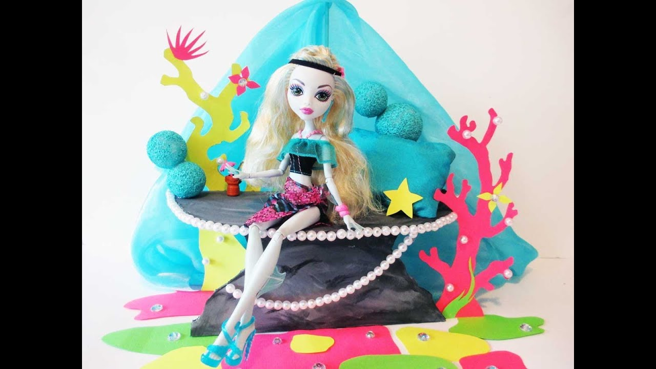 How to make a lagoona blue doll bed tutorial monster high for How to make a high bed