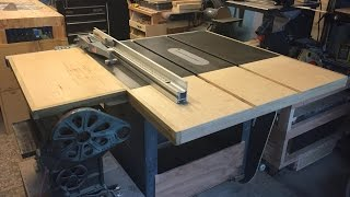 Tablesaw Extension and Side table