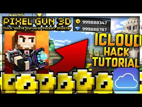 PIXEL GUN 3D HACK TUTORIAL - SYNC AND IOS HACKED ACCOUNT TO ICLOUD!!
