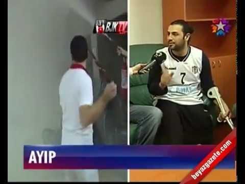 Bunu da gördük. Tekerlekli sandalyeler kırıldı. Galatasaray - Beşiktaş Basketbol Maçı,Ayıp