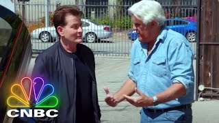 Jay Leno's Garage: Full Opening - Charlie Sheen Rides Shotgun With Jay | CNBC Prime