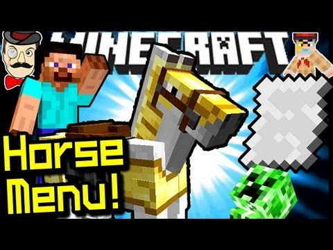 Minecraft NEW HORSE MENU in 1.6!