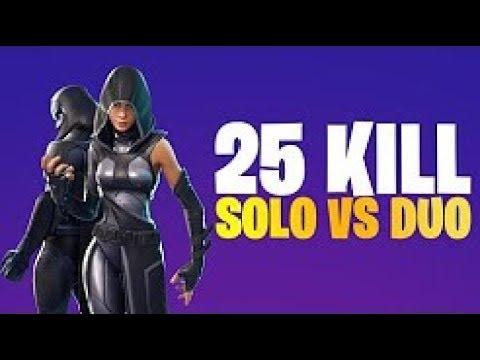 25 kills solo vs duo | fortnite battle royale (xbox