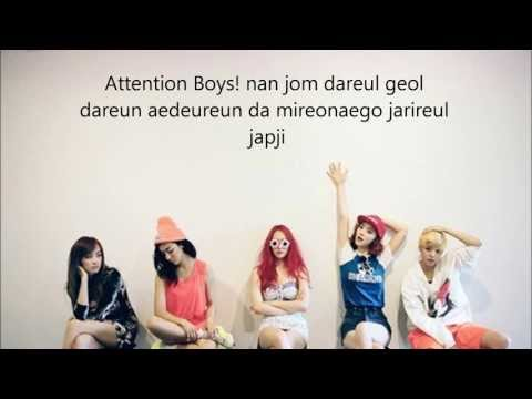 F(x) Rum Pum Pum Pum Lyrics video