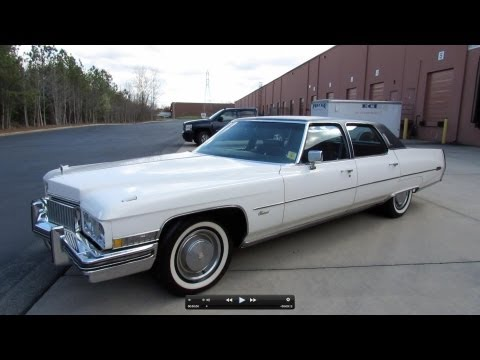 1973 Cadillac Fleetwood Brougham Start Up, Exhaust, and In Depth Review