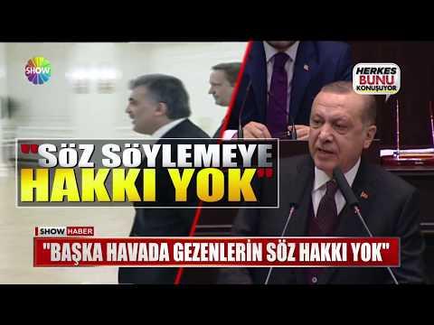 """Erdoğan """"Başka havada gezenlerin söz hakkı yok"""""""