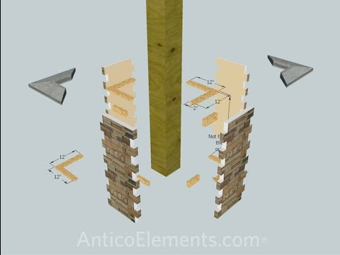 How to install faux stone posts amp column wraps for porch pillars how