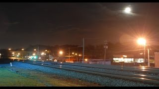 Night time action in Austell 4/7/15 & 4/8/15: high speed and monster freights