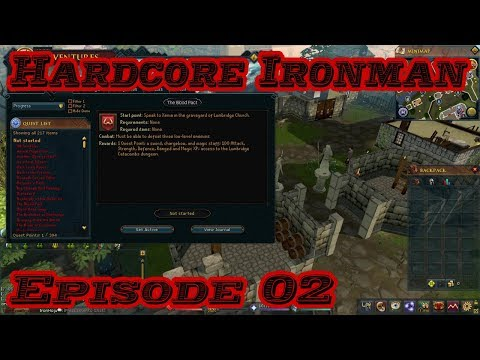 Hardcore Ironman Episode 2: Starting quests! (RuneScape 3)