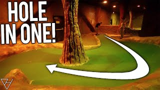 Mini Golf Couples Battle! - Lucky Hole In One!