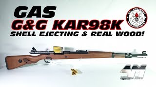 G&G KAR98K / GAS POWERED / SHELL EJECTING / REAL WOOD / G980 SE Airsoft Unboxing