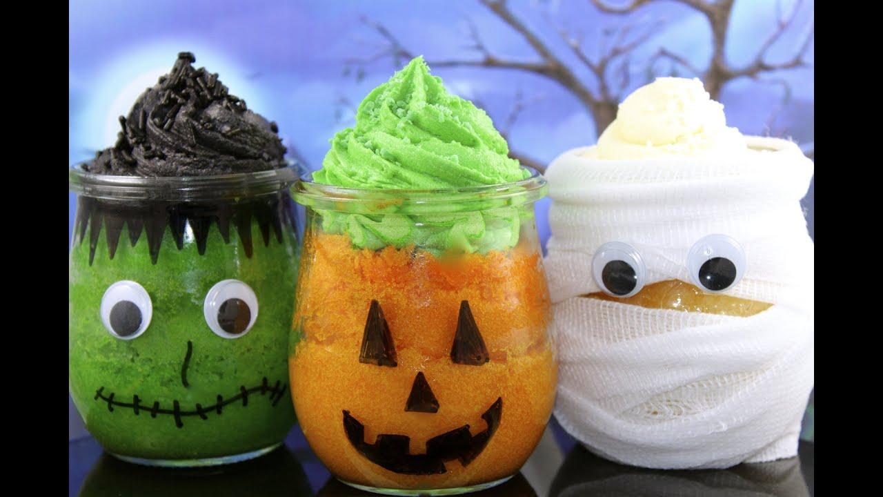 Make halloween cupcake jars with mycupcakeaddiction and for How to make halloween cupcake cakes
