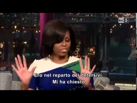 Michelle Obama on Letterman:  Shopping at Target Story