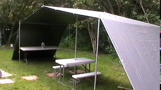 BEST CAMPSITE IDEAS FOR CAMPERS  -  TARPS WITH NO ROPES