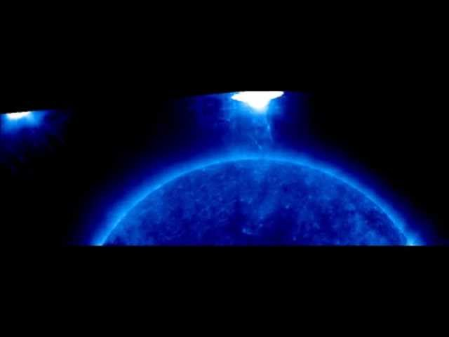 Extremely Large UFO Beside The Sun 7-20-14  IW News