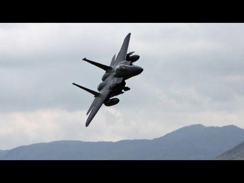 Pure F-15 Strike Eagle Low Level Flying Sounds Without Music. 