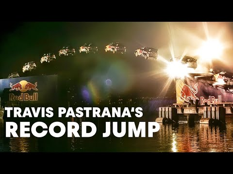 Travis Pastrana jumps 269 feet in rally car!  (HD!)