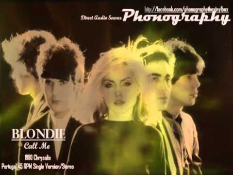 "Blondie - ""Call Me"" 1980 Chrisalys Portugal 45 RPM Single version on Stereo"