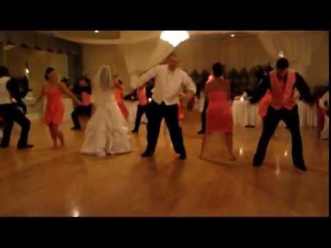 Surprise Wedding dance to The Wobble