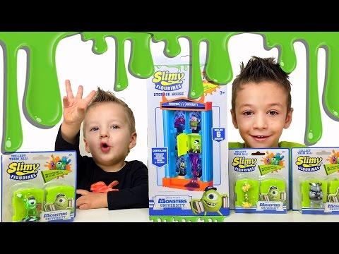★ Слизь в Университете Монстров. Slimy Figurines Monster University Видео для детей