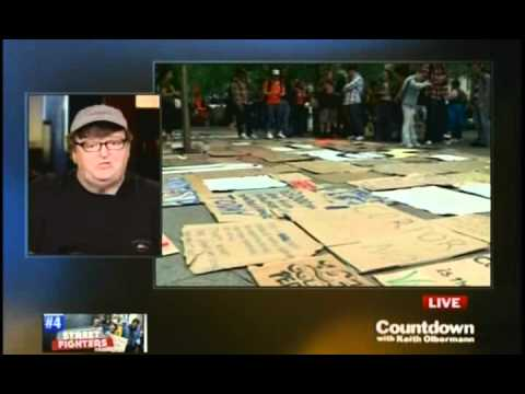 """Keith Olbermann Interviews Michael Moore on """"Occupy Wall Street"""" Movement (9-22-11)"""