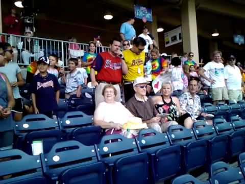 Birthday Shoutout At Gwinnett Braves Game 7/21/11